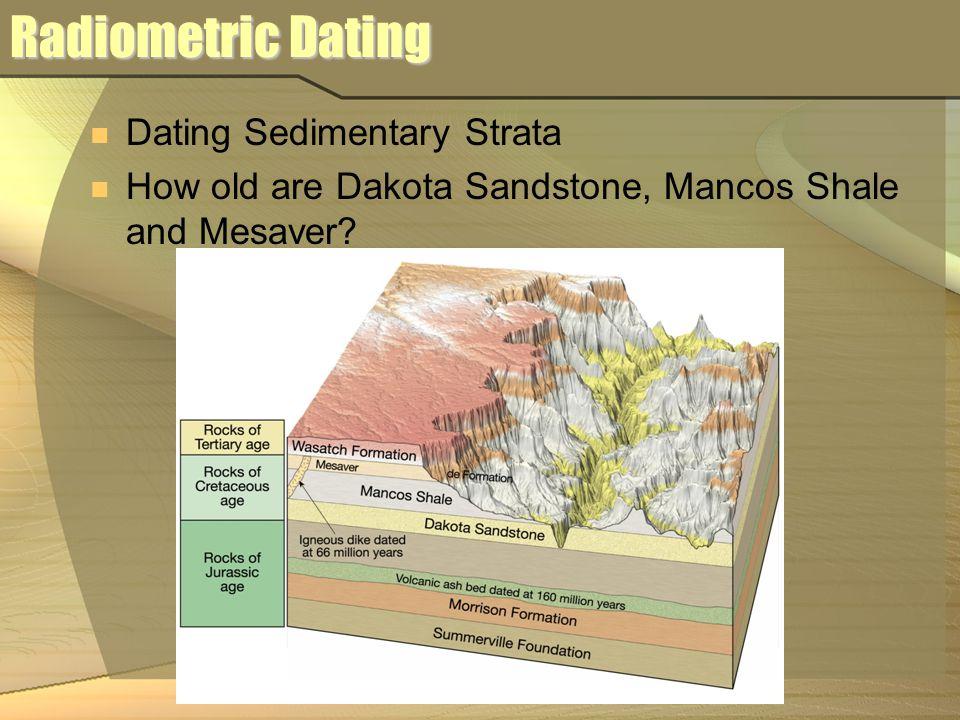 Radiometric Dating Dating Sedimentary Strata How old are Dakota Sandstone, Mancos Shale and Mesaver?