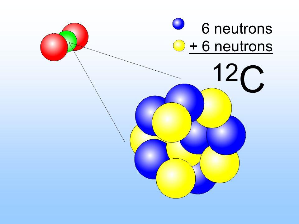 6 neutrons + 6 neutrons 12 C
