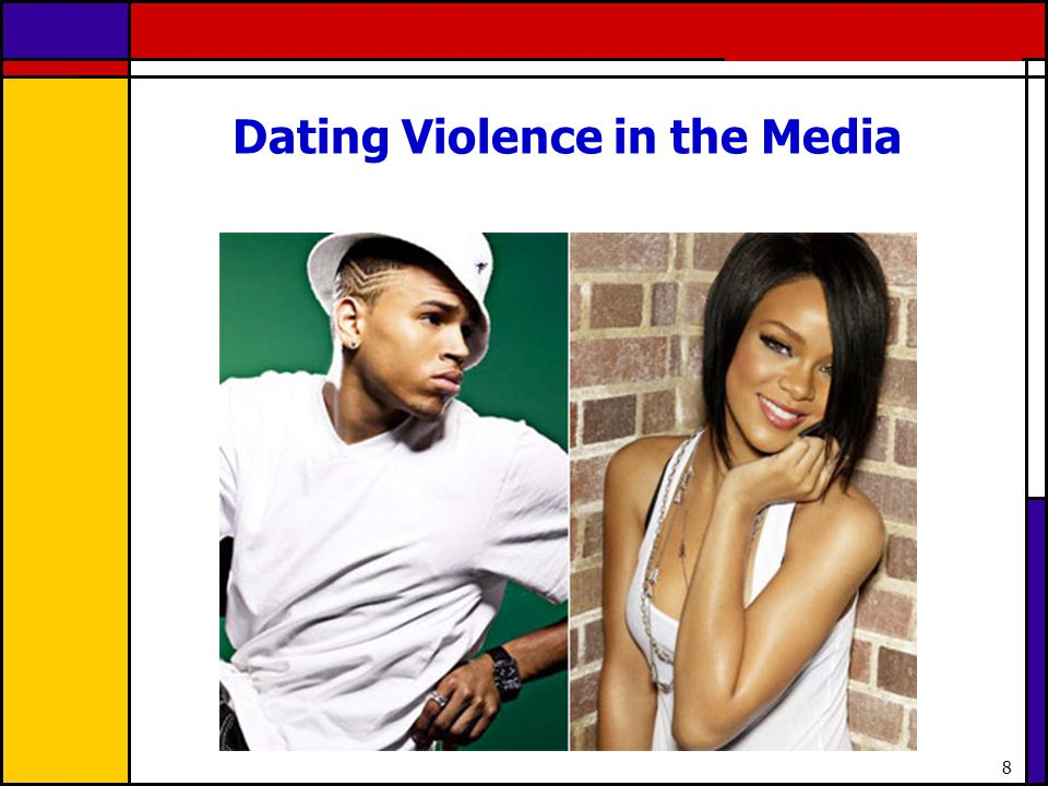 9 Media coverage of 19 year old popular musician Chris Browns attack on girlfriend and fellow young musician, Rihanna brought considerable attention to the issue of dating violence last year A study conducted by the Boston Public Health Commission surveyed local teens and found that nearly half reported Rihanna as responsible for the incident with Chris Brown, and more than half reported that both were to blame, despite knowledge that Rihanna needed medical attention as a result of being beaten by Brown.