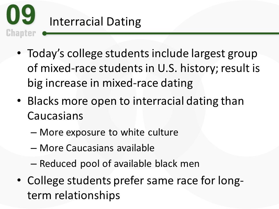 Interracial Dating Todays college students include largest group of mixed-race students in U.S. history; result is big increase in mixed-race dating B