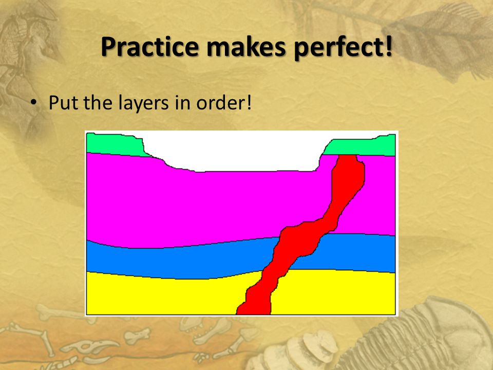 Practice makes perfect! Put the layers in order!