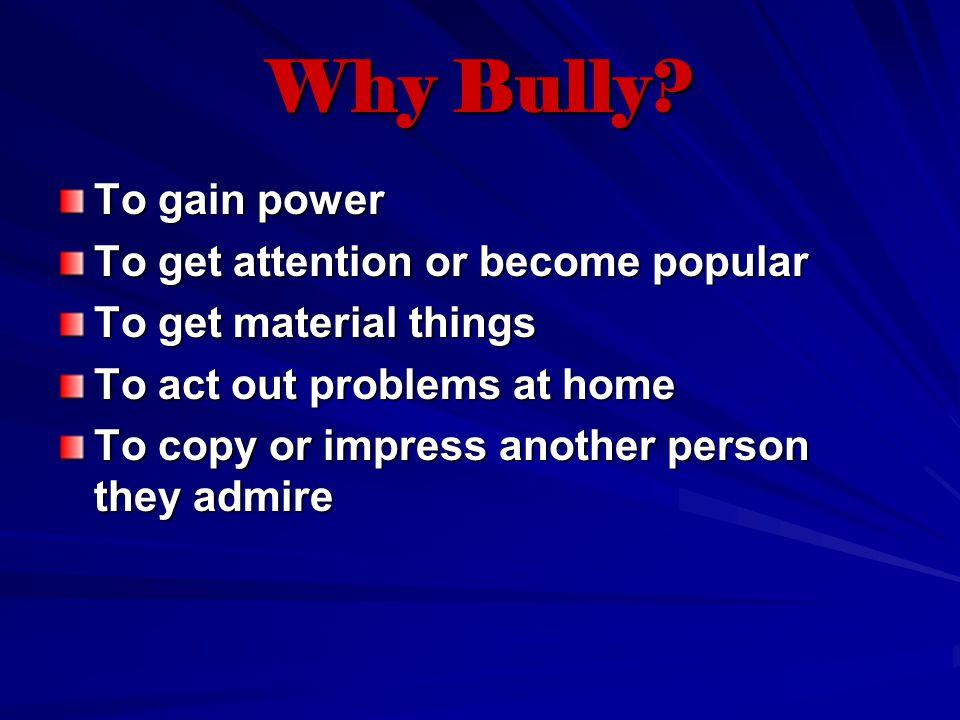 Why Bully.
