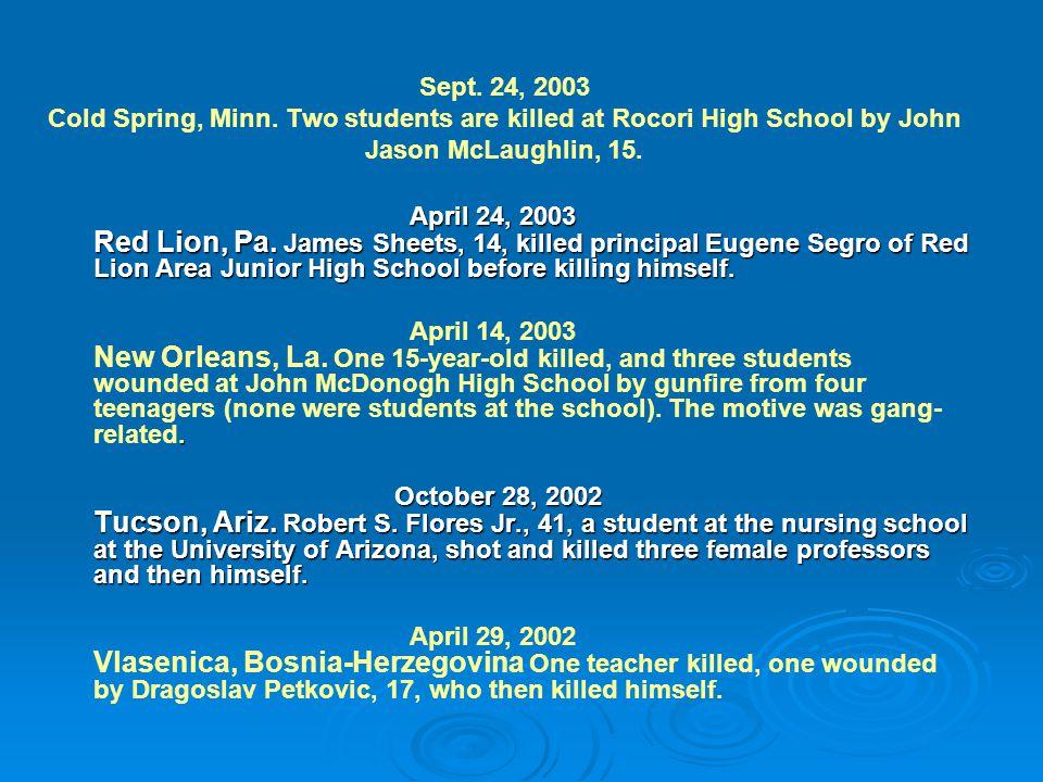Sept. 24, 2003 Cold Spring, Minn.