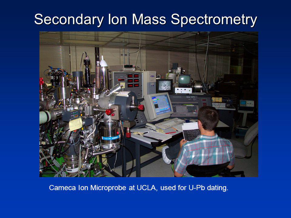 Secondary Ion Mass Spectrometry Cameca Ion Microprobe at UCLA, used for U-Pb dating.