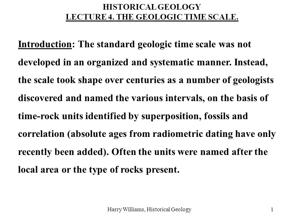 Harry Williams, Historical Geology2