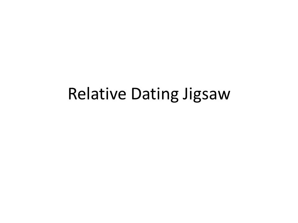 Relative Dating Jigsaw