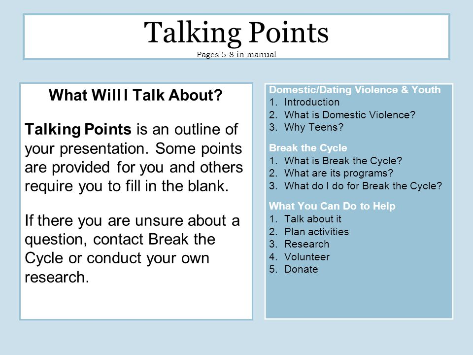 What Will the Audience Ask.Read over and familiarize yourself with the FAQs.