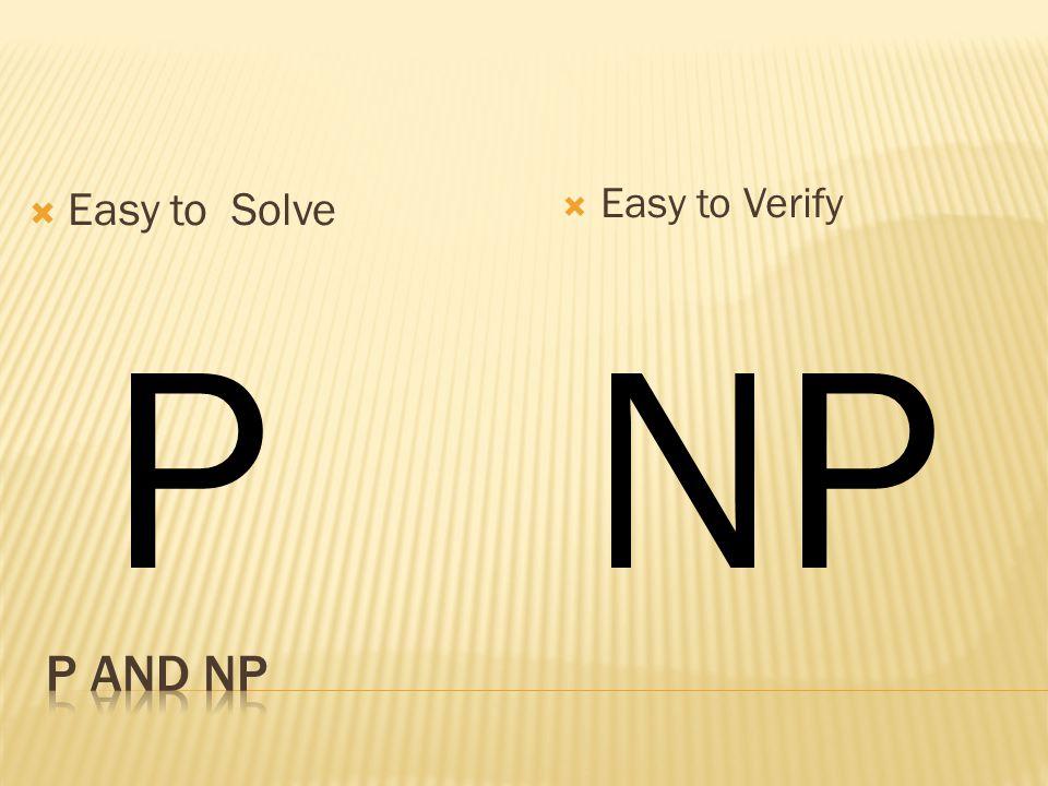 Easy to Solve Easy to Verify NPP