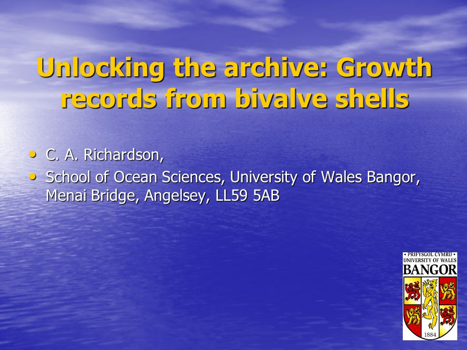 Unlocking the archive: Growth records from bivalve shells C.