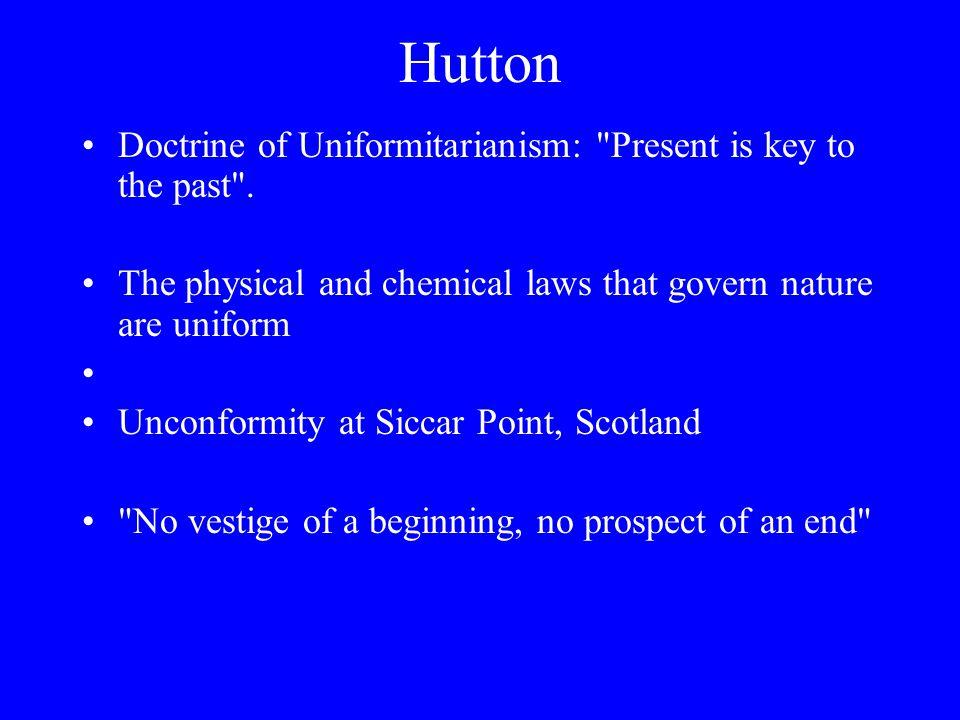 Hutton Doctrine of Uniformitarianism: