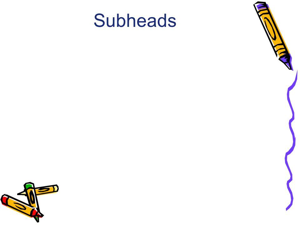 Subheads