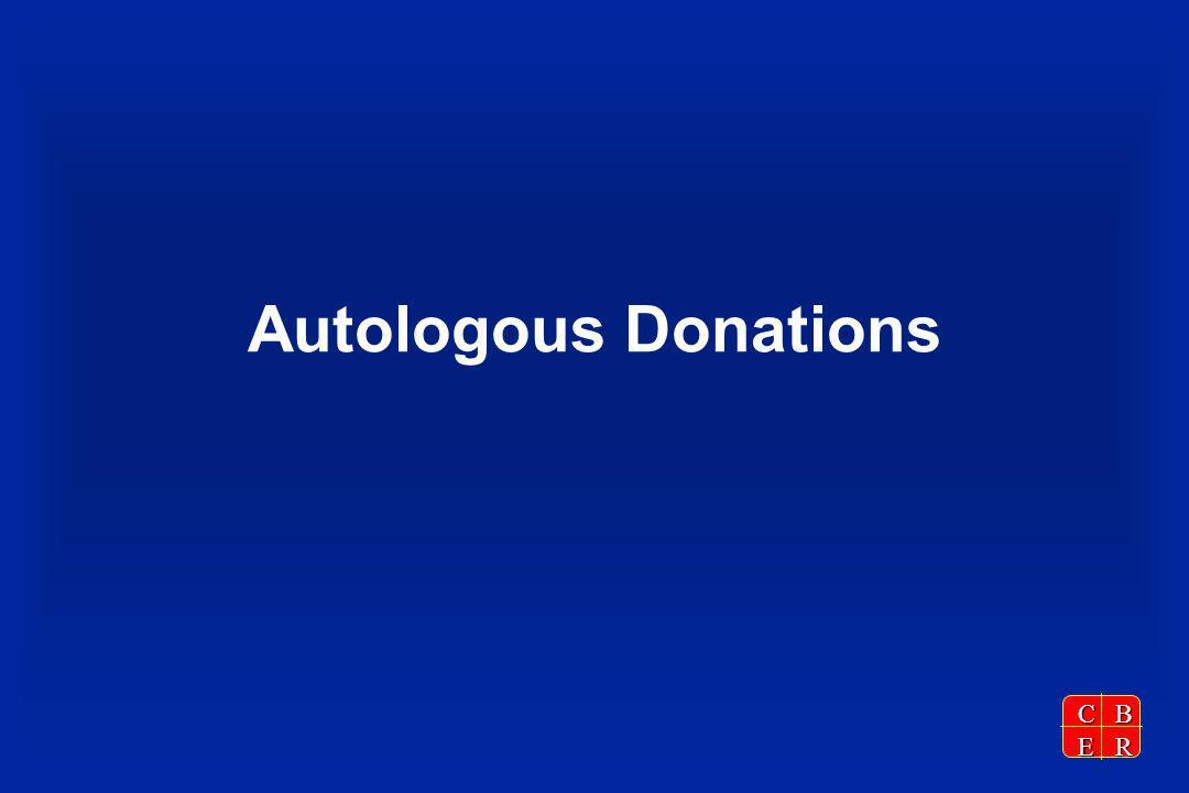 CBER Autologous Donations
