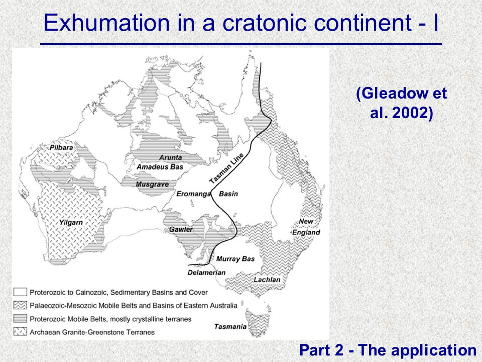 Exhumation in a cratonic continent - I Part 2 - The application (Gleadow et al. 2002)