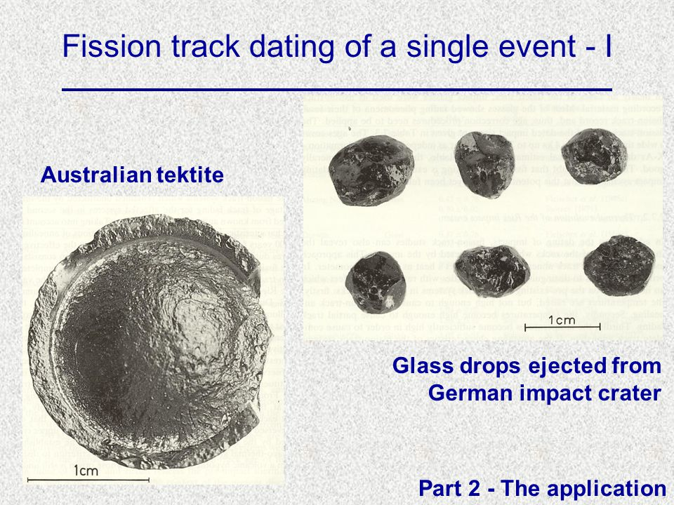 Fission track dating of a single event - I Australian tektite Glass drops ejected from German impact crater Part 2 - The application