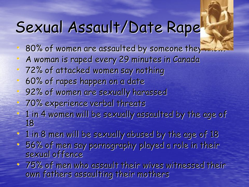 Sexual Assault- consists of any form of sexual activity upon another person without that persons consent.