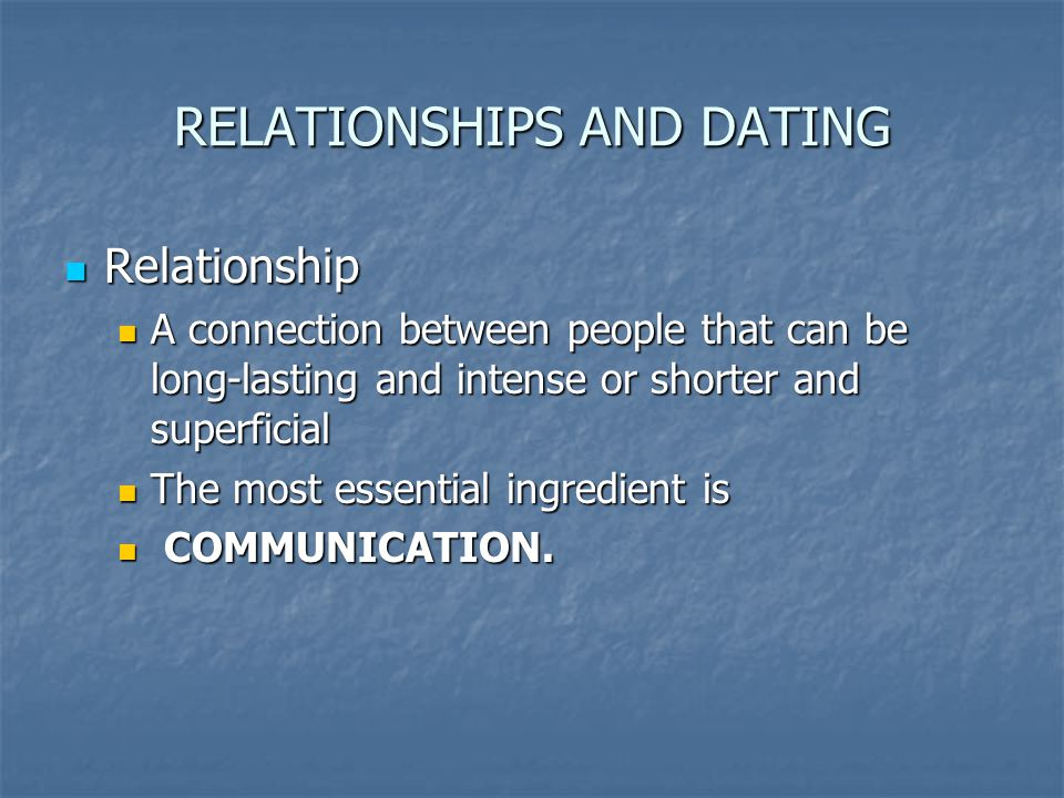 TYPES OF RELATIONSHIPS Family - group of people with some degree of kinship, whether through blood, marriage or adoption.