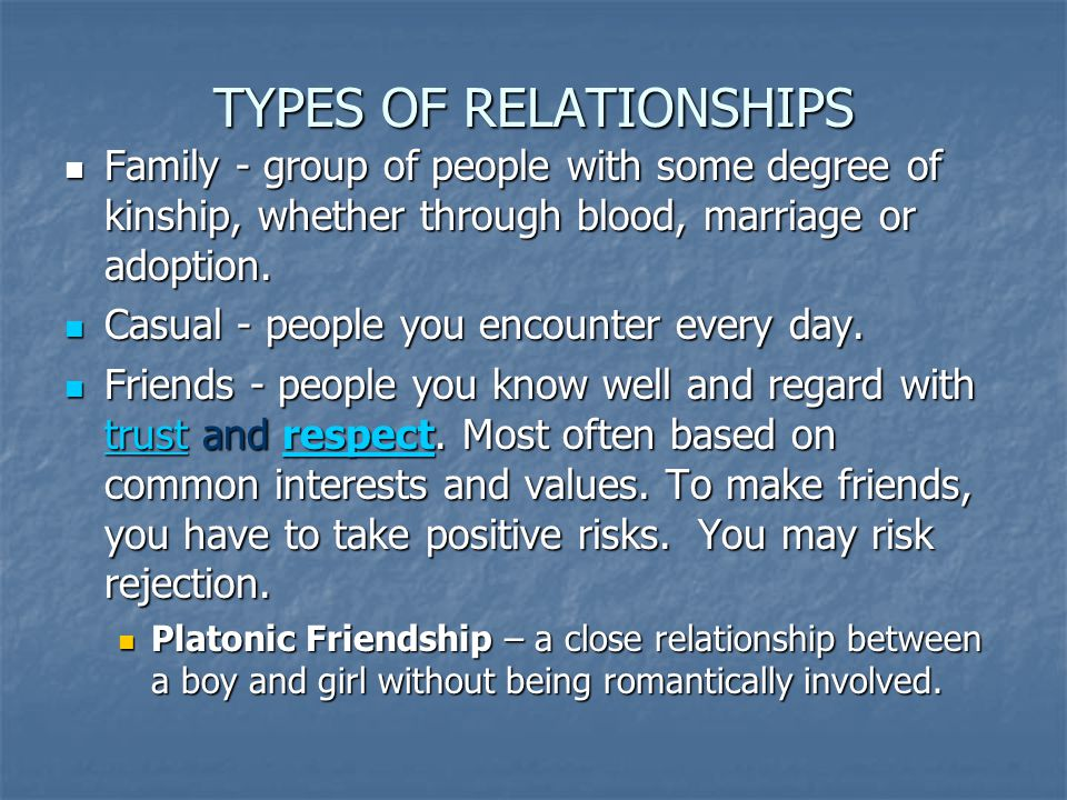 PARTS OF RELATIONSHIPS Commitment – how important it is to keep based on need for security.