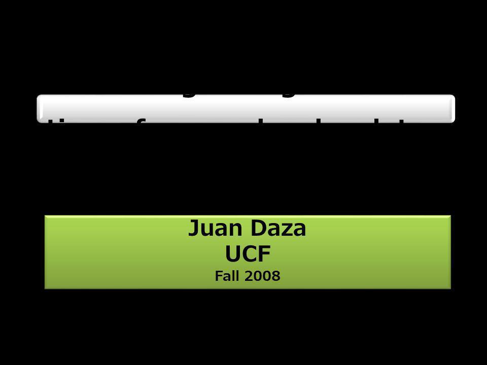 Juan Daza UCF Fall 2008 Juan Daza UCF Fall 2008 Estimating divergence times from molecular data