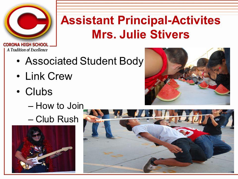 Assistant Principal-Activites Mrs.