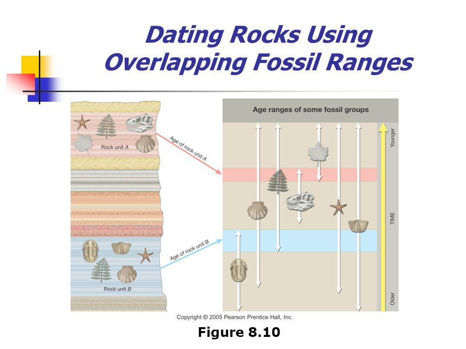 Dating Rocks Using Overlapping Fossil Ranges Figure 8.10