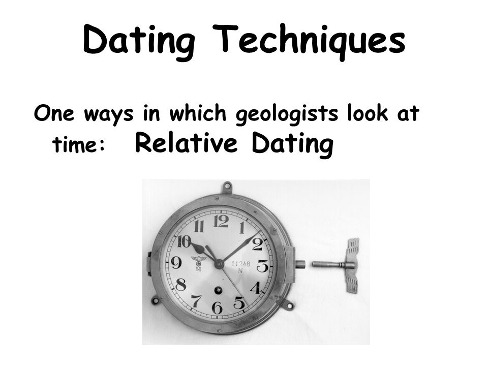 Relative Dating is..