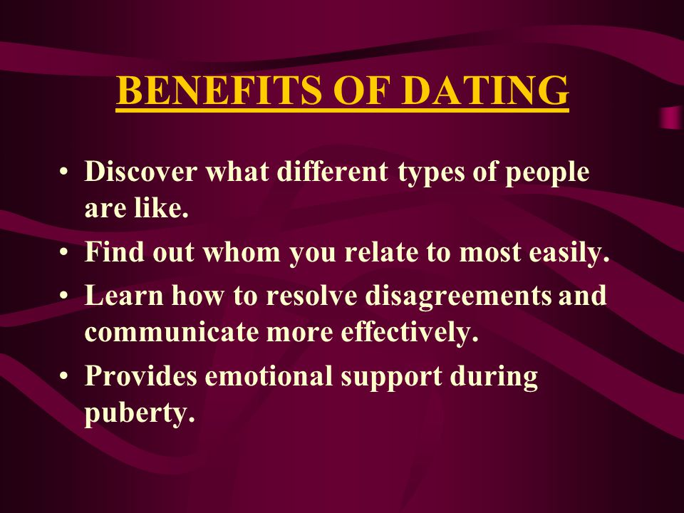 REASONS FOR DATING WAY TO GET TO KNOW EACH OTHER.WANT TO DEVELOP FRIENDSHIPS.