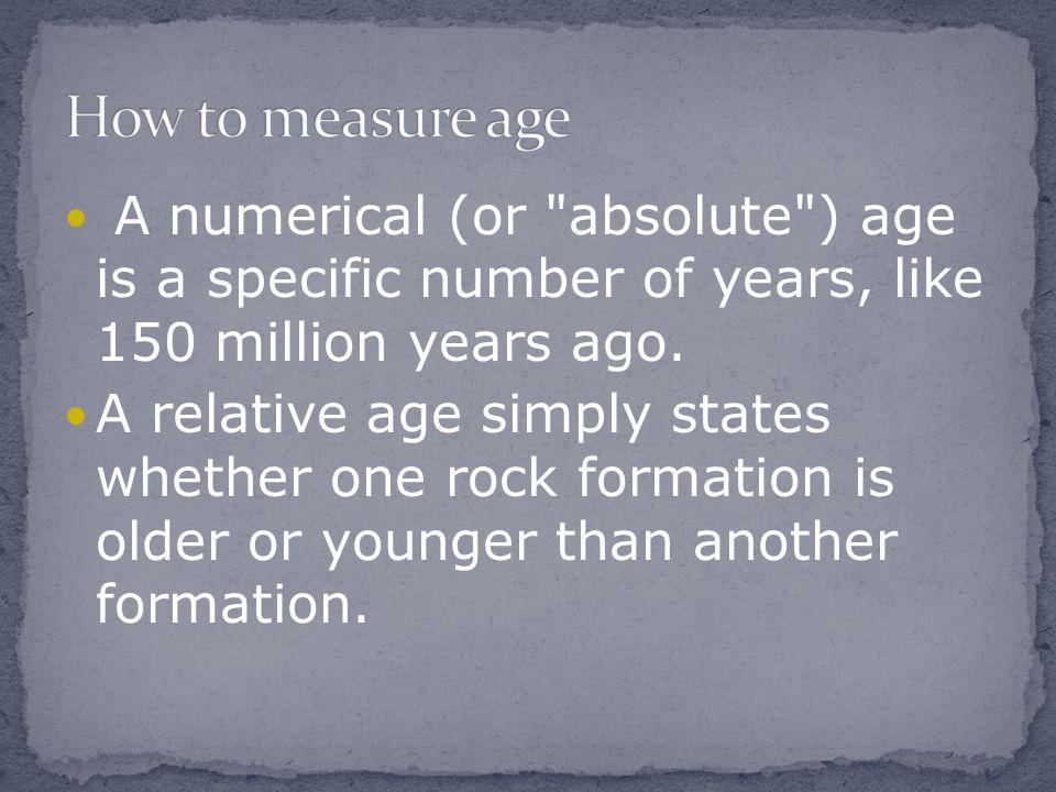 A numerical (or
