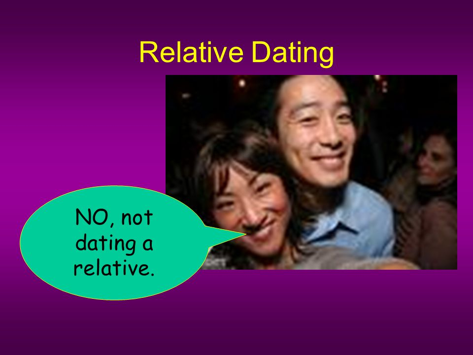 Relative Dating NO, not dating a relative.