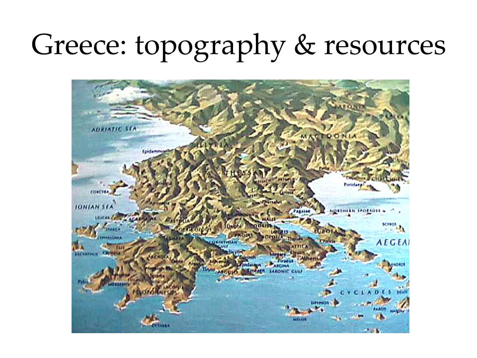 Greece: topography & resources
