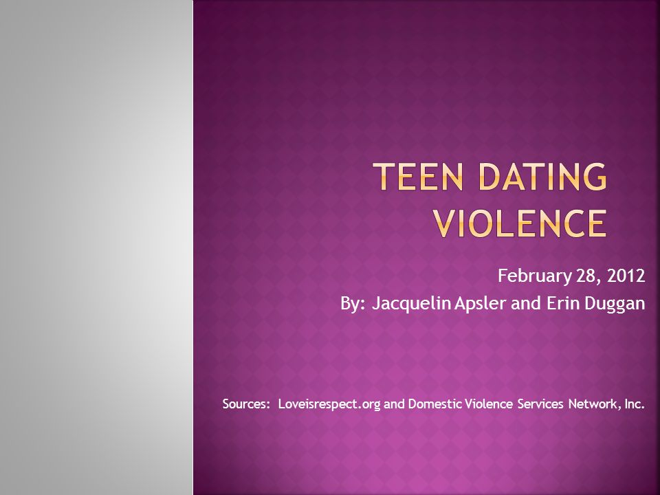 Nearly 1.5 million high school students nationwide experience physical abuse from a dating partner in a single year.