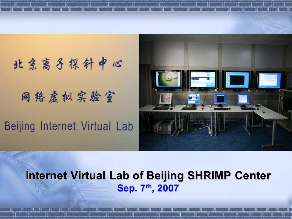 Internet Virtual Lab of Beijing SHRIMP Center Sep. 7 th, 2007
