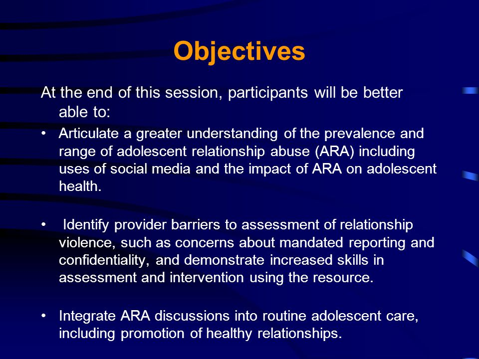 Evaluation: Increase screening and self-efficacy to respond to ARA by 50% in the 100 clinicians who receive HEART Primer Training.