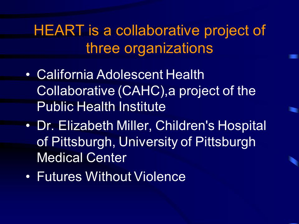Adolescent Relationship Abuse is a Public Health Problem Sexual and reproductive health Mental health and substance use Overall health status?