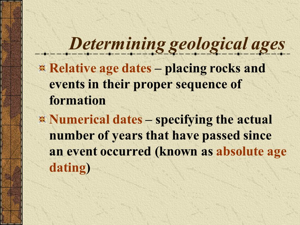Dating sedimentary strata using radiometric dating Figure 18.17