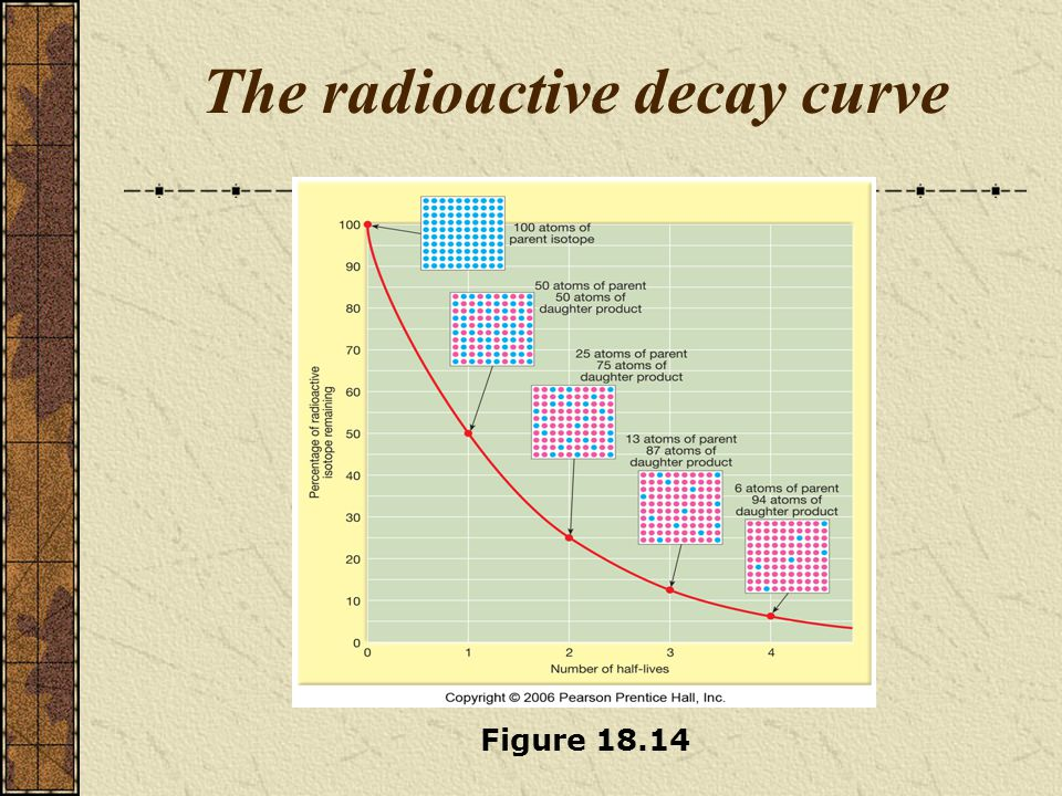 The radioactive decay curve Figure 18.14