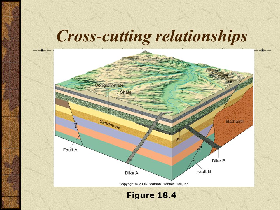Principles of relative dating Inclusions An inclusion is a piece of rock that is enclosed within another rock Rock containing the inclusion is younger Unconformity An unconformity is a break in the rock record produced by erosion and/or nondeposition of rock units