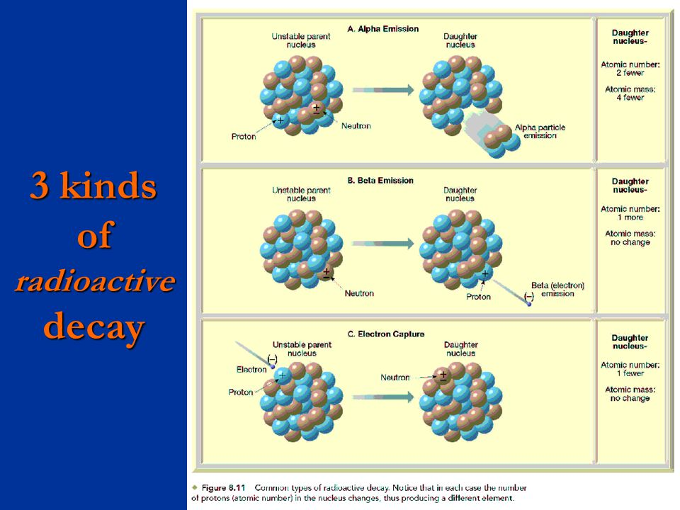 3 kinds of radioactive decay