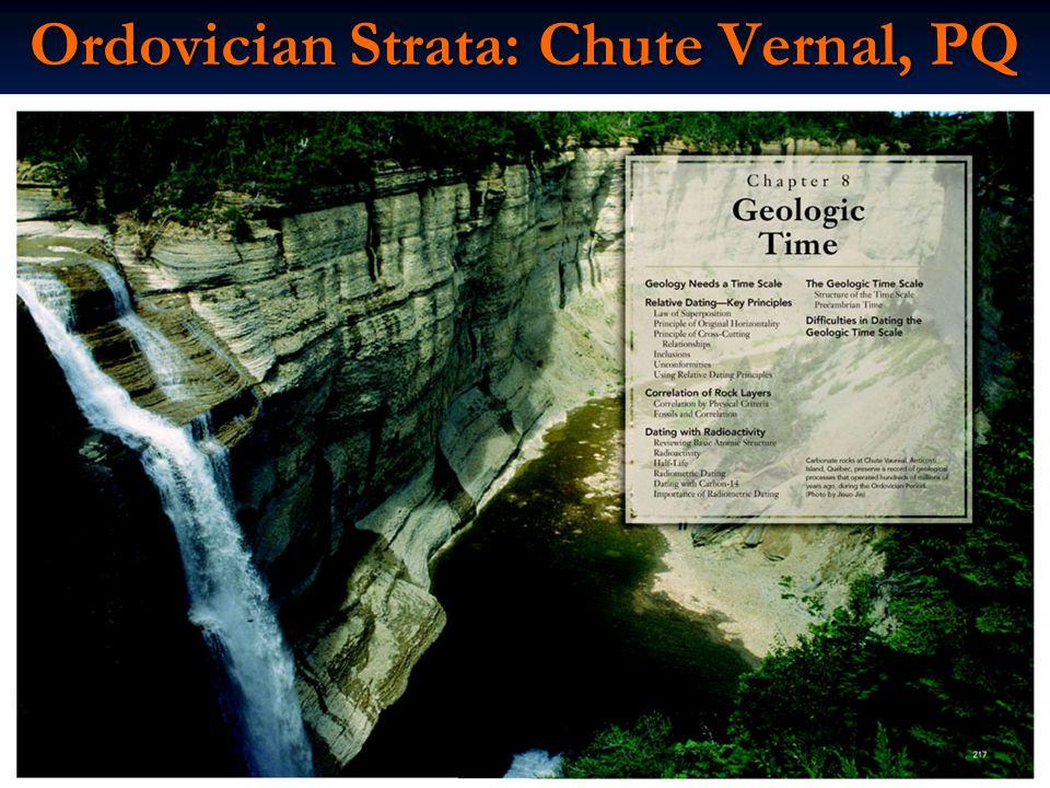 Ordovician Strata: Chute Vernal, PQ