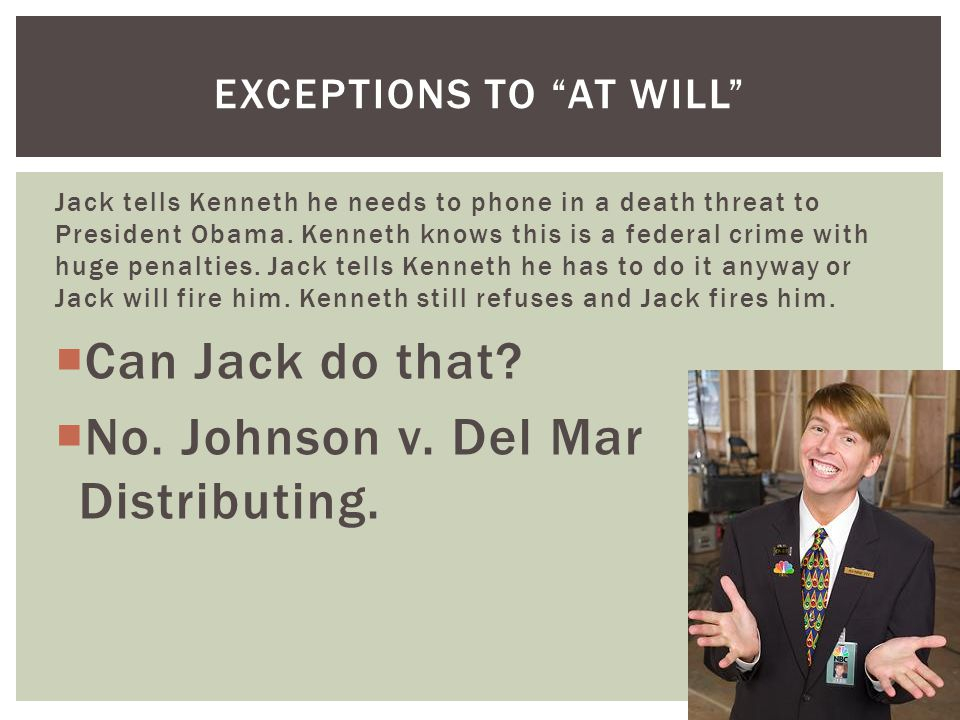 Jack tells Kenneth he needs to phone in a death threat to President Obama.