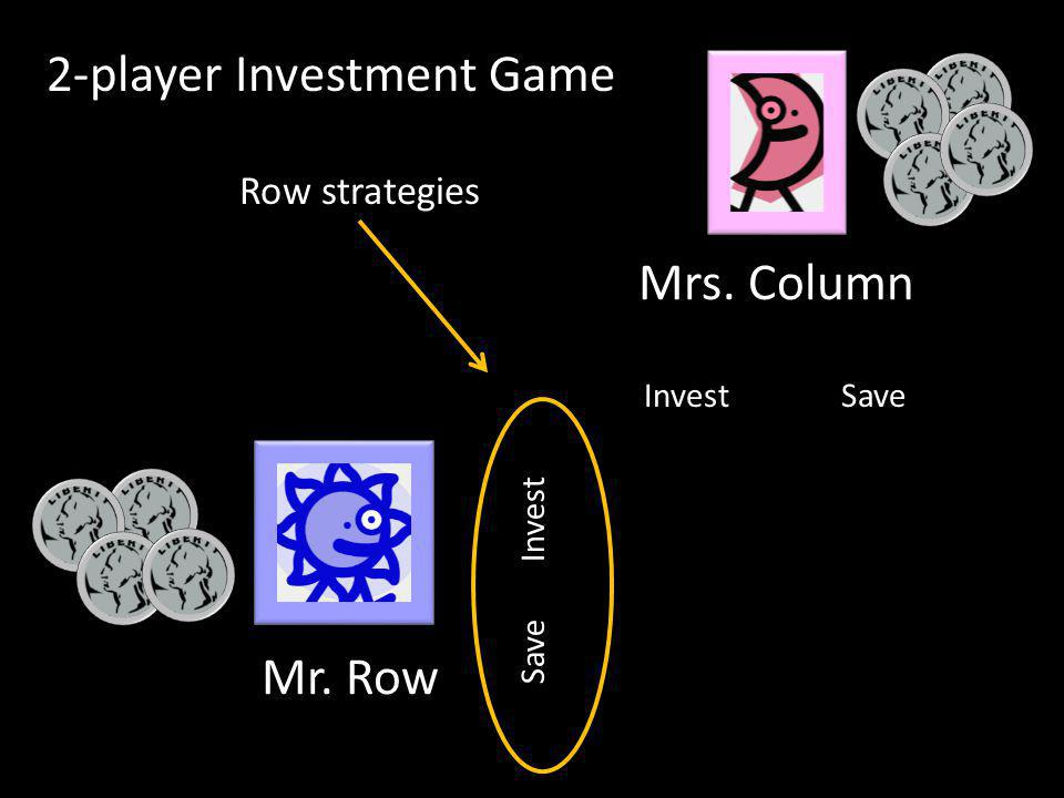 InvestSave Invest Row strategies 2-player Investment Game Mr. Row Mrs. Column