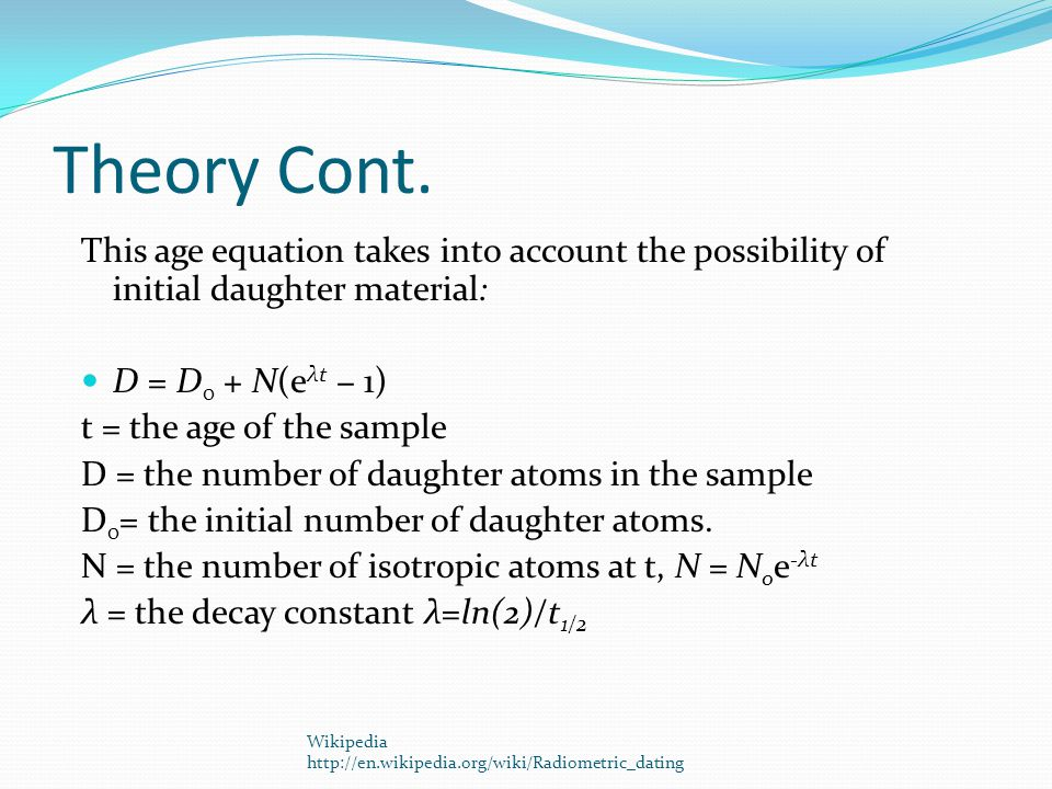 Theory Cont.