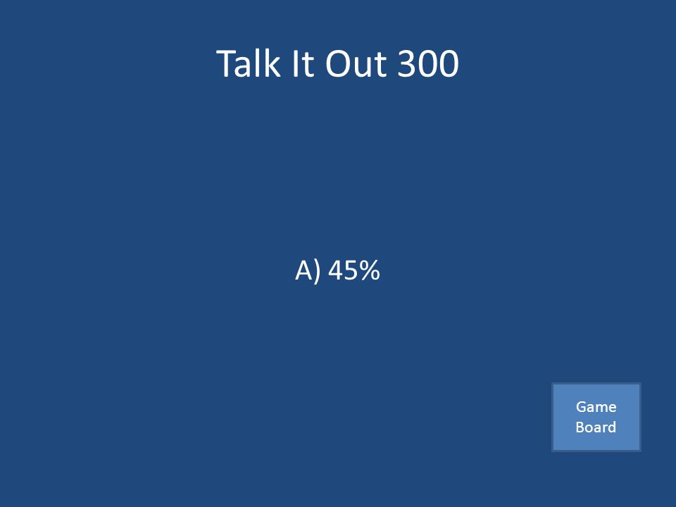 Talk It Out 300 An average person spends this percentage of their communication time listening A) 45 % B) 58% C) 30 % Answer
