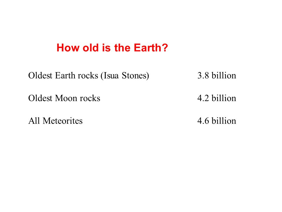 How old is the Earth.