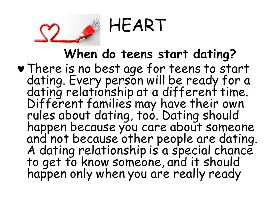 HEART Unfortunately, many teens get into relationships for less than healthy reasons-what are some of them.
