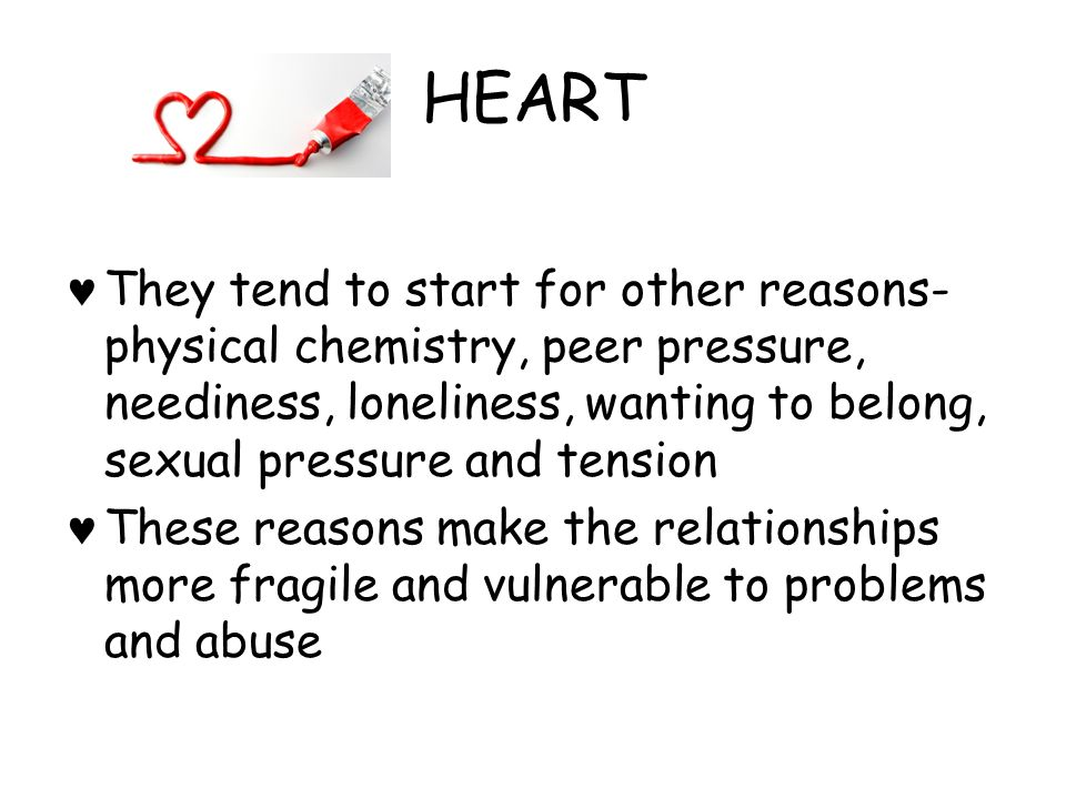 HEART What are some dangers of these relationships.