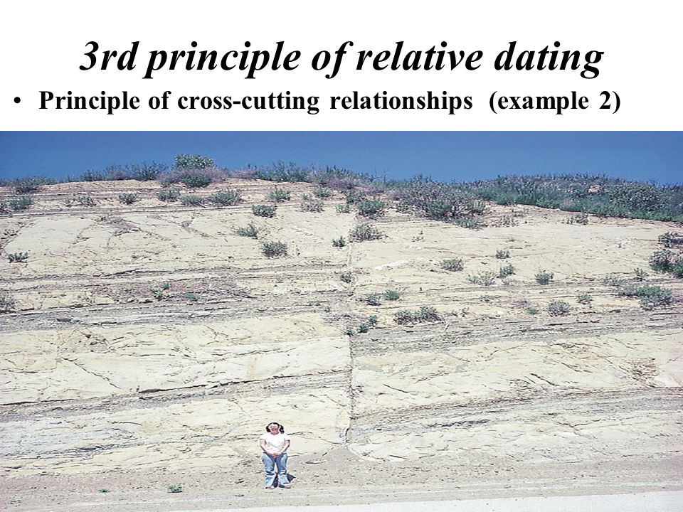 3rd principle of relative dating Principle of cross-cutting relationships (example 2)
