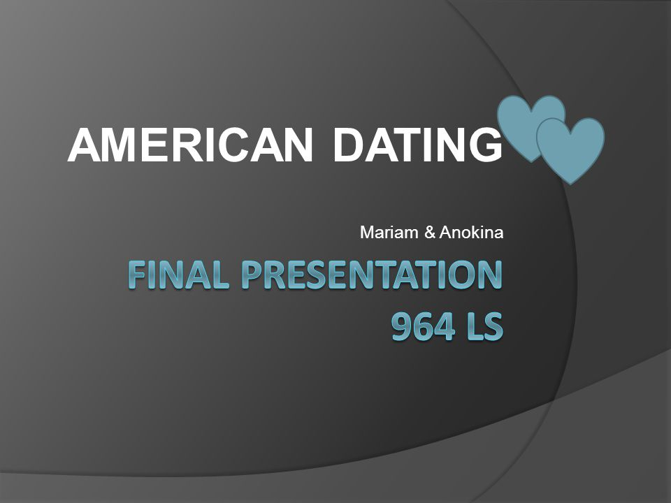 AMERICAN DATING Mariam & Anokina