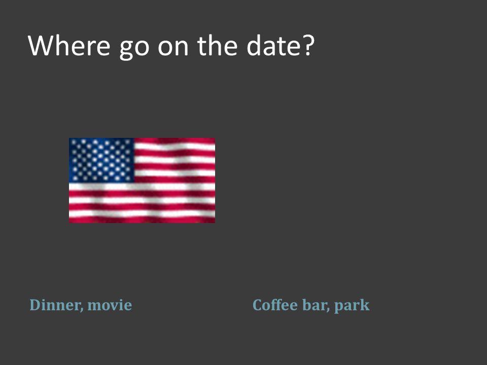Where go on the date? Dinner, movieCoffee bar, park