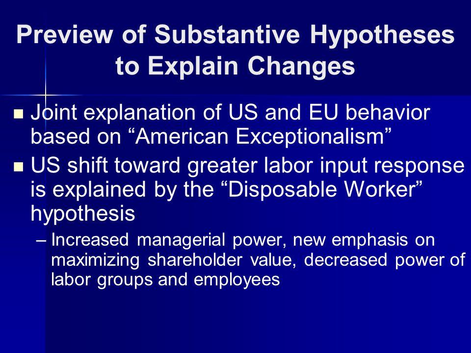 US vs EU: Trend Four-Quarter Growth of H/E, E/N