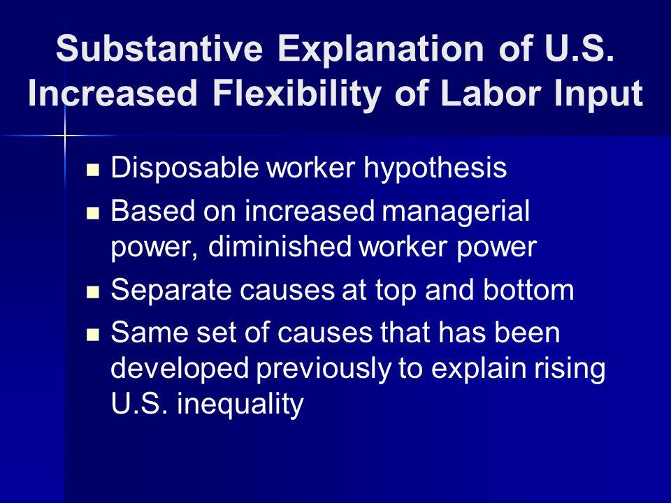 Substantive Explanation of U.S.
